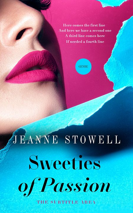 Pre Made Book Cover Bright Turquoise